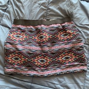 American eagle multicolored miniskirt